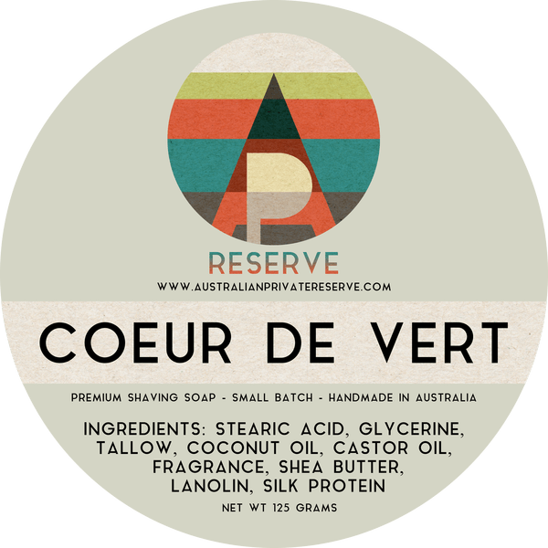 Australian Private Reserve - Coeur de Vert - Soap image