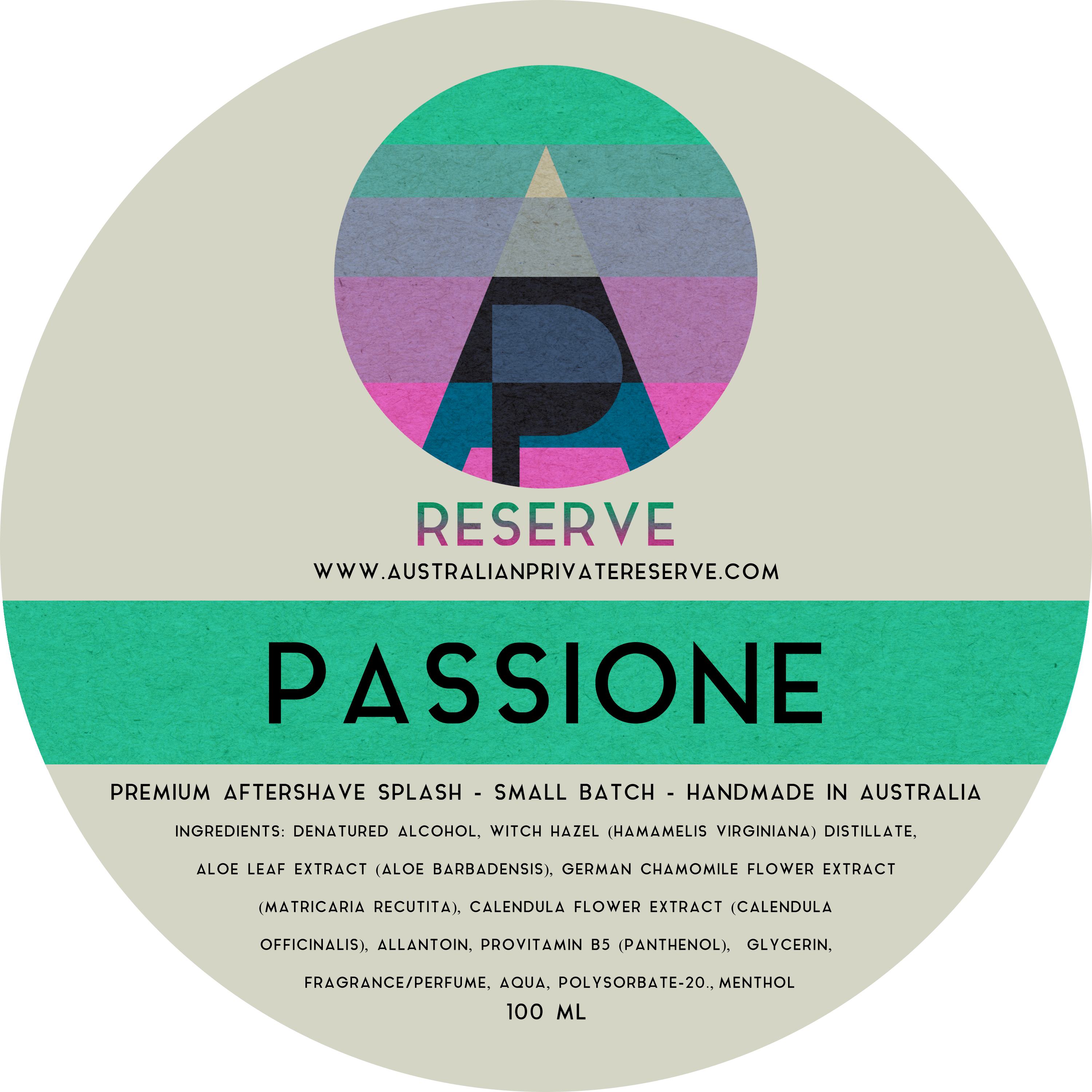 Australian Private Reserve - Passione - Aftershave image