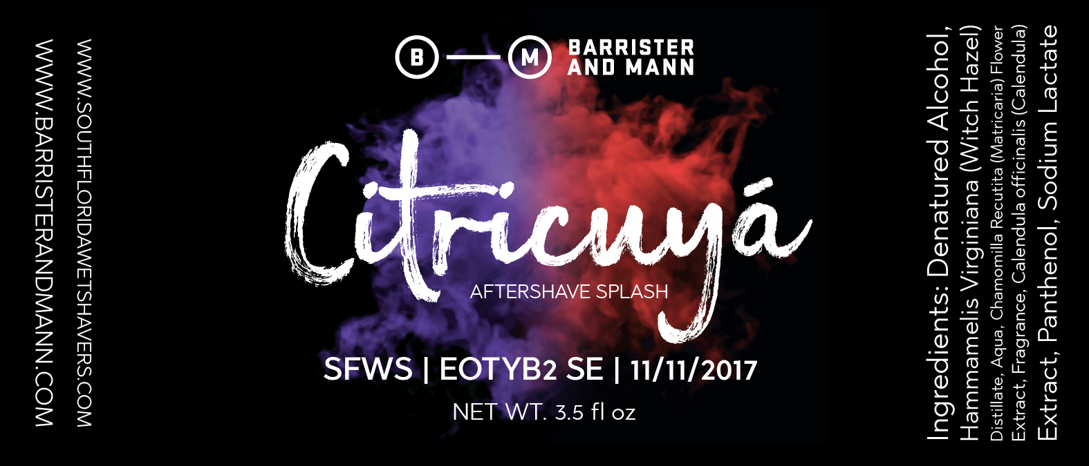 Barrister and Mann - Citricuyá - Aftershave image