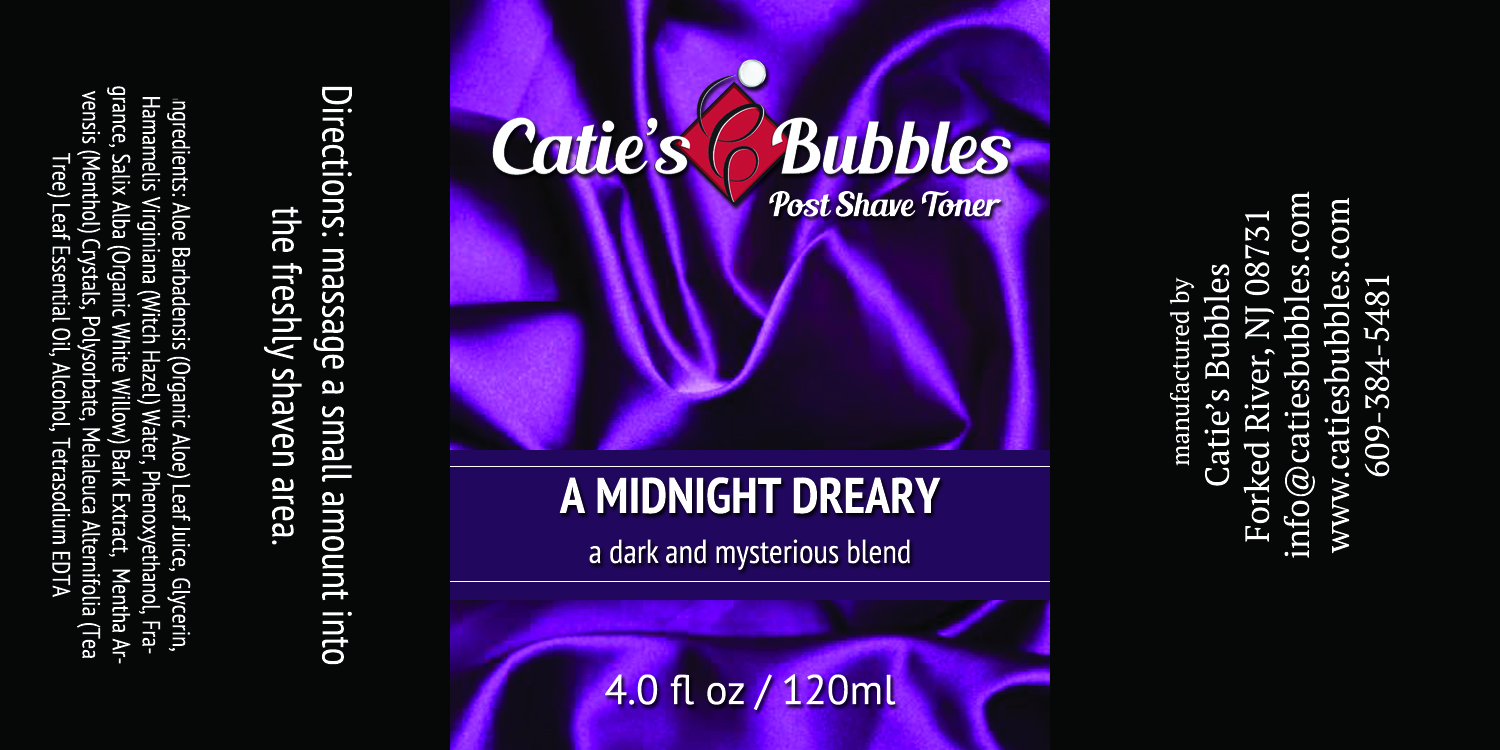 Catie's Bubbles - A Midnight Dreary - Toner image