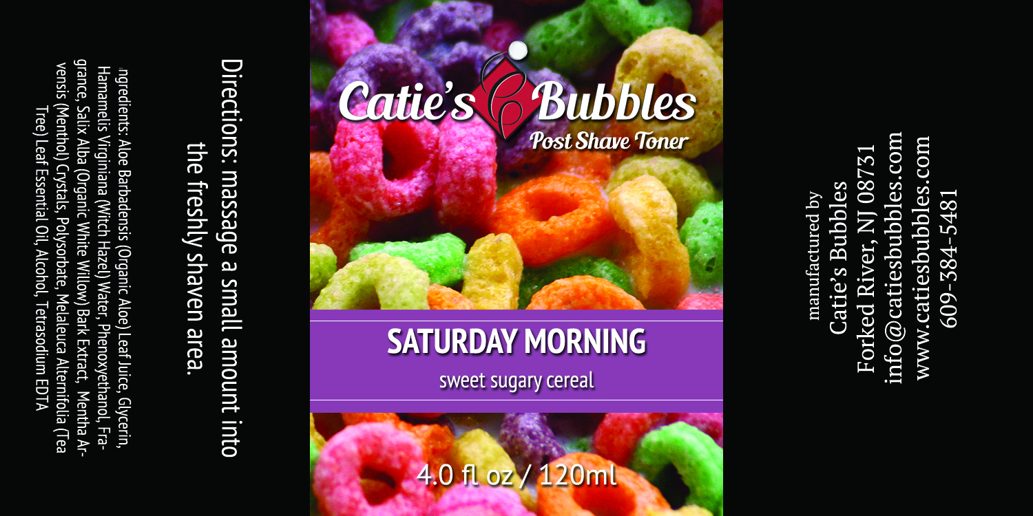 Catie's Bubbles - Saturday Morning - Toner image