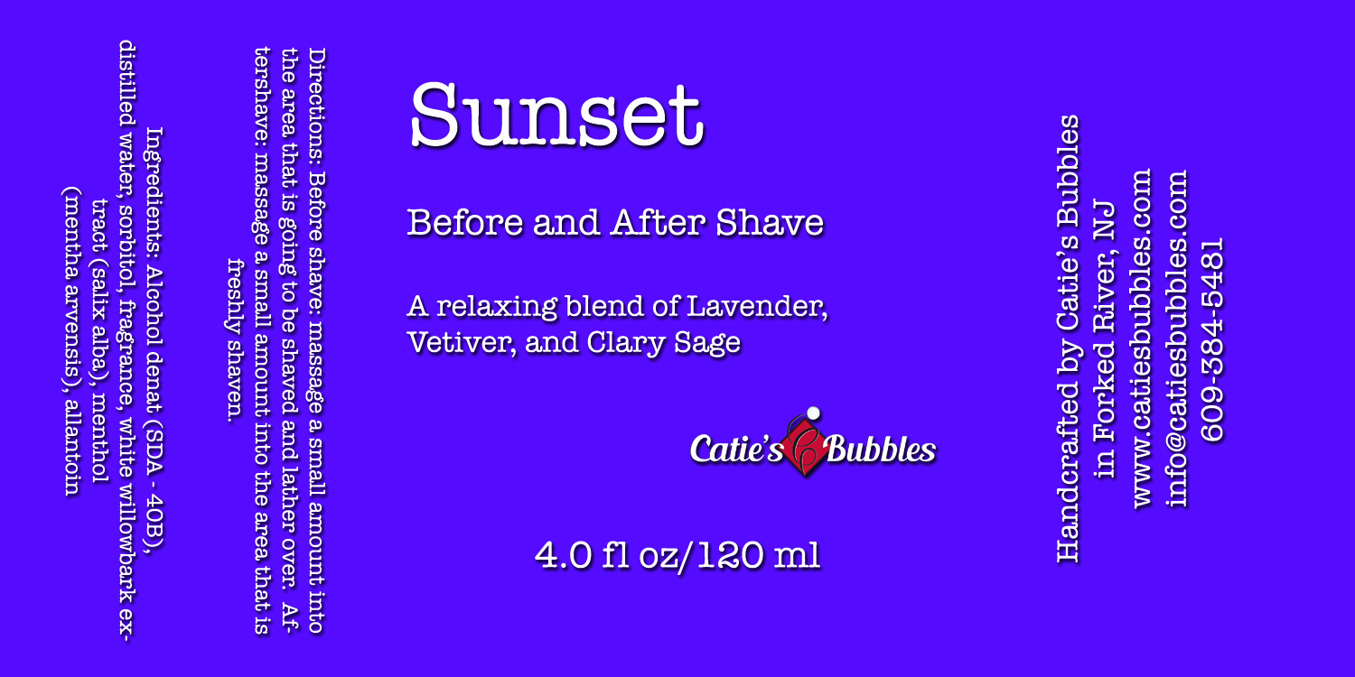 Catie's Bubbles - Catie's Bubbles - Sunset - Aftershave image