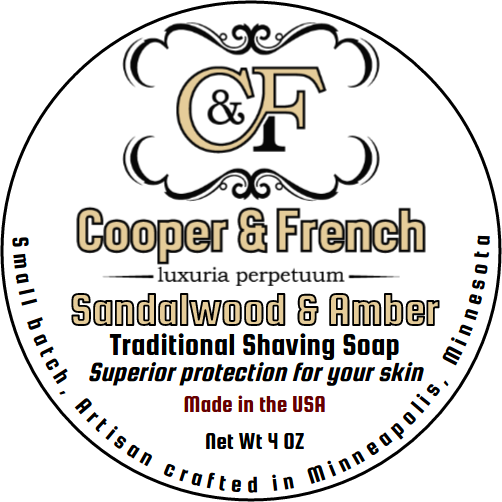 Cooper & French - Sandalwood & Amber - Soap image