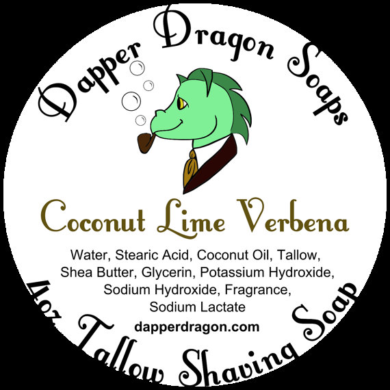 Dapper Dragon - Coconut Lime Verbena - Soap image