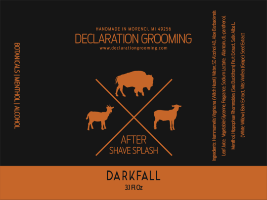 Declaration Grooming - Darkfall - Aftershave image