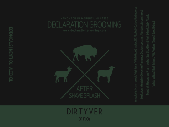 Declaration Grooming - Dirtyver - Aftershave image