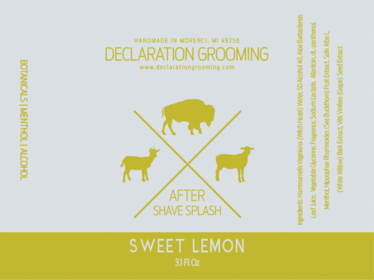 Declaration Grooming - Sweet Lemon - Aftershave image