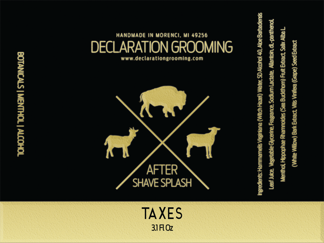 Declaration Grooming - Taxes - Aftershave image