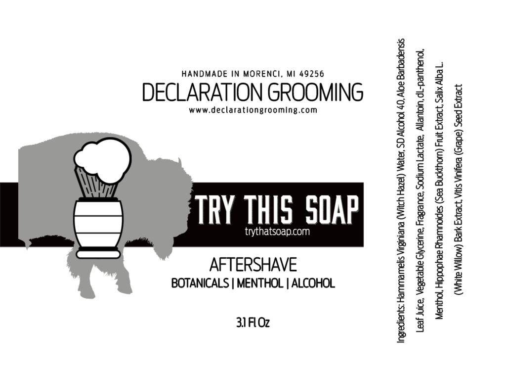 Declaration Grooming - Try This Soap - Aftershave image