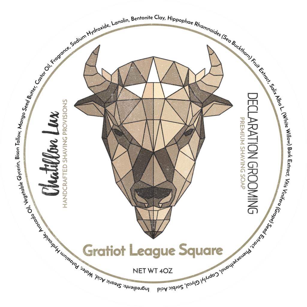 Chatillon Lux/Declaration Grooming - Gratiot League Square - Soap image