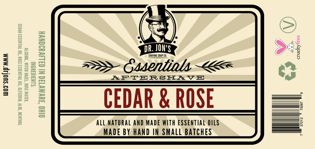 Dr. Jon's - Cedar & Rose - Aftershave image