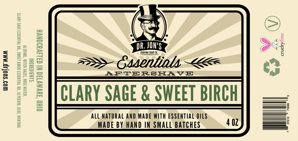 Dr. Jon's - Clary Sage & Sweet Birch - Aftershave image
