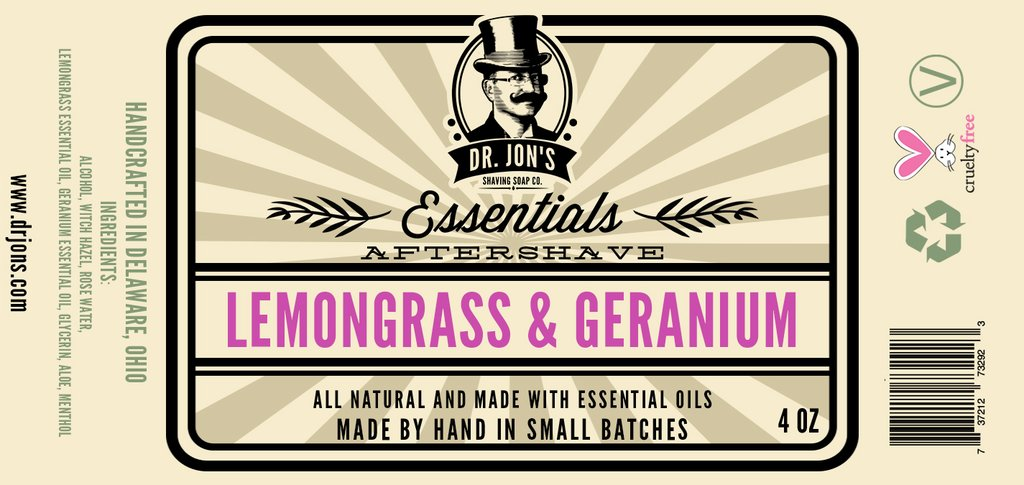 Dr. Jon's - Lemongrass & Geranium - Aftershave image