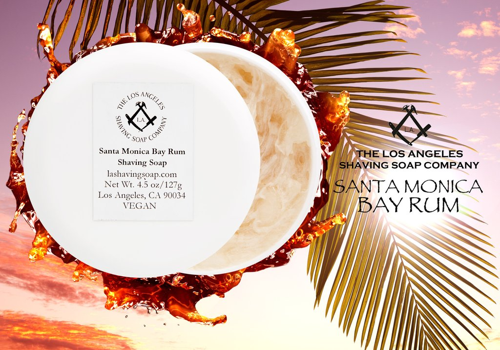 LA Shaving Soap Co. - Santa Monica Bay Rum - Soap image