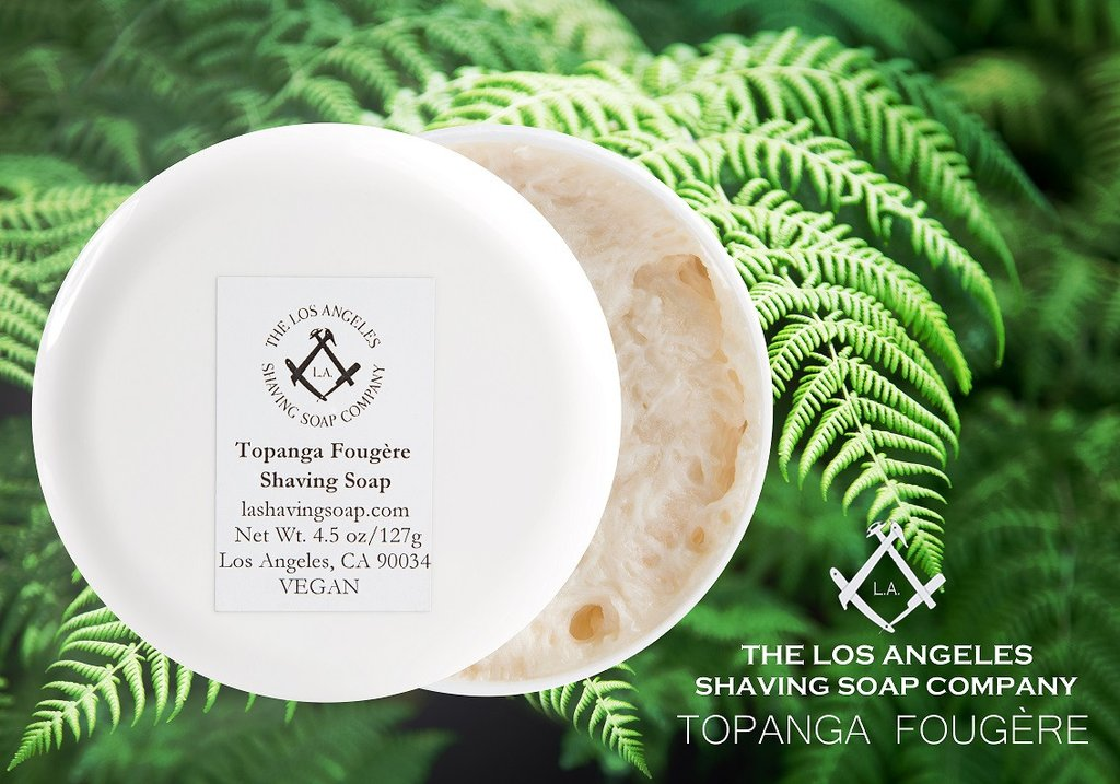 LA Shaving Soap Co. - Topanga Fougère - Soap image