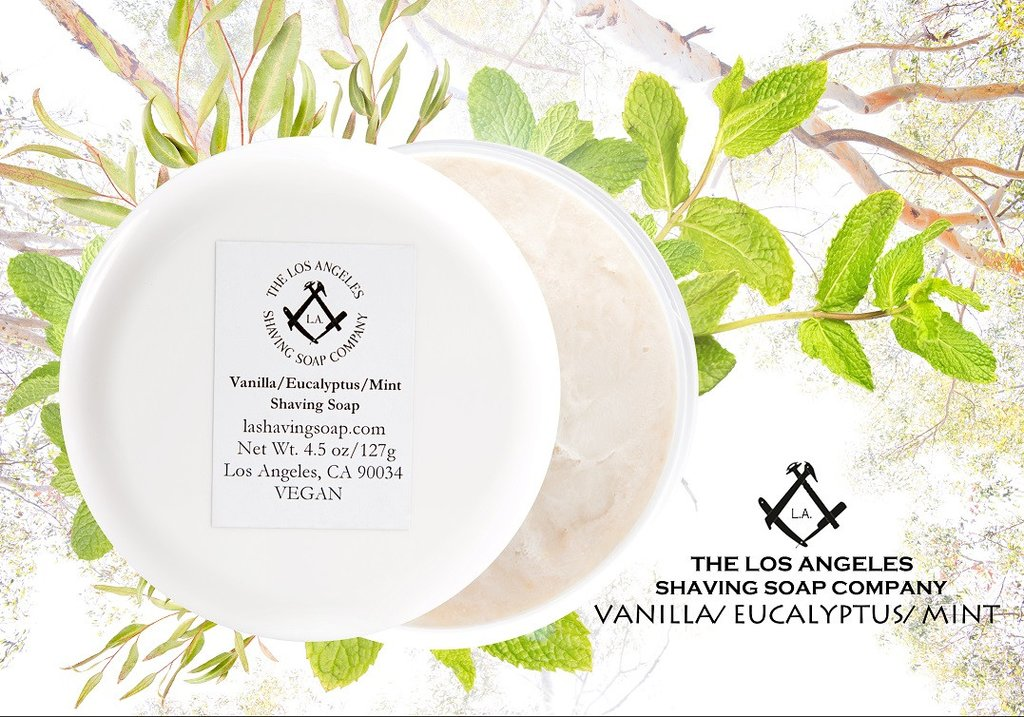 LA Shaving Soap Co. - Vanilla/Eucalyptus/Mint - Soap image