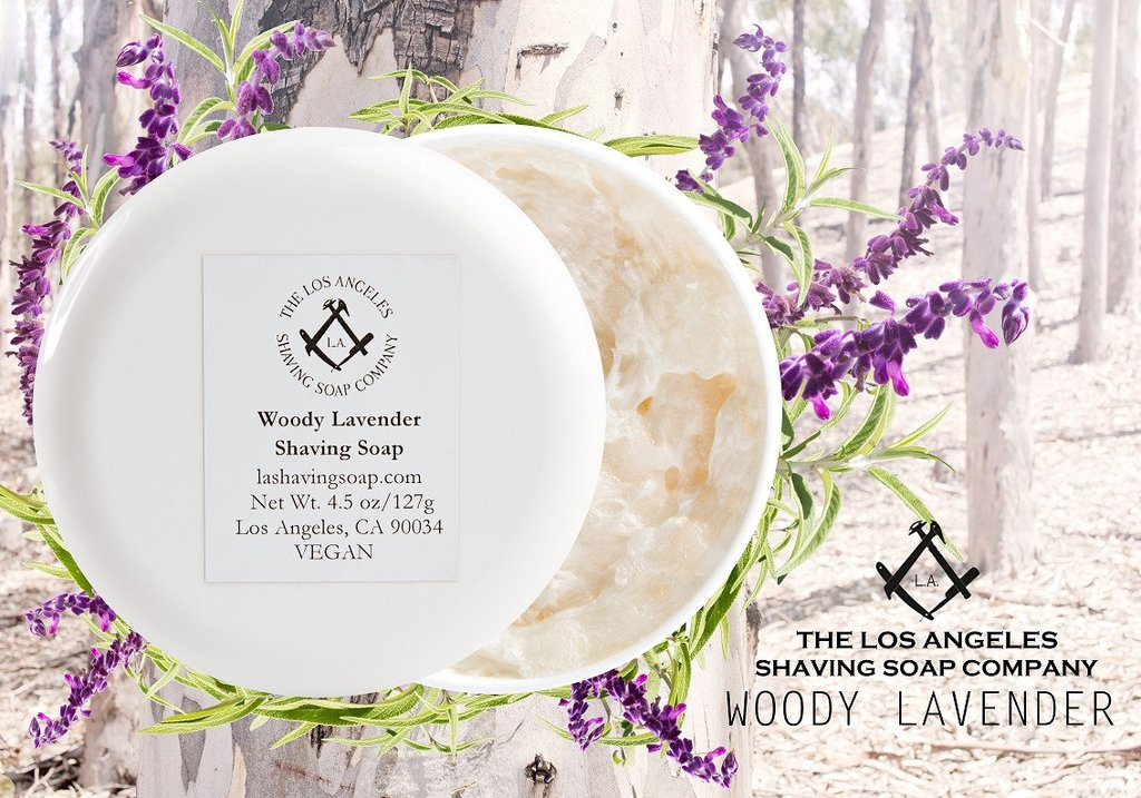 LA Shaving Soap Co. - Woody Lavender - Soap image