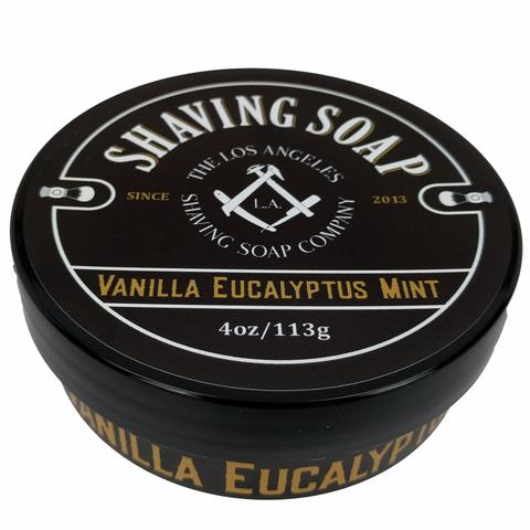 LA Shaving Soap Co. - Vanilla/Eucalyptus/Mint - Soap (Vegan) image