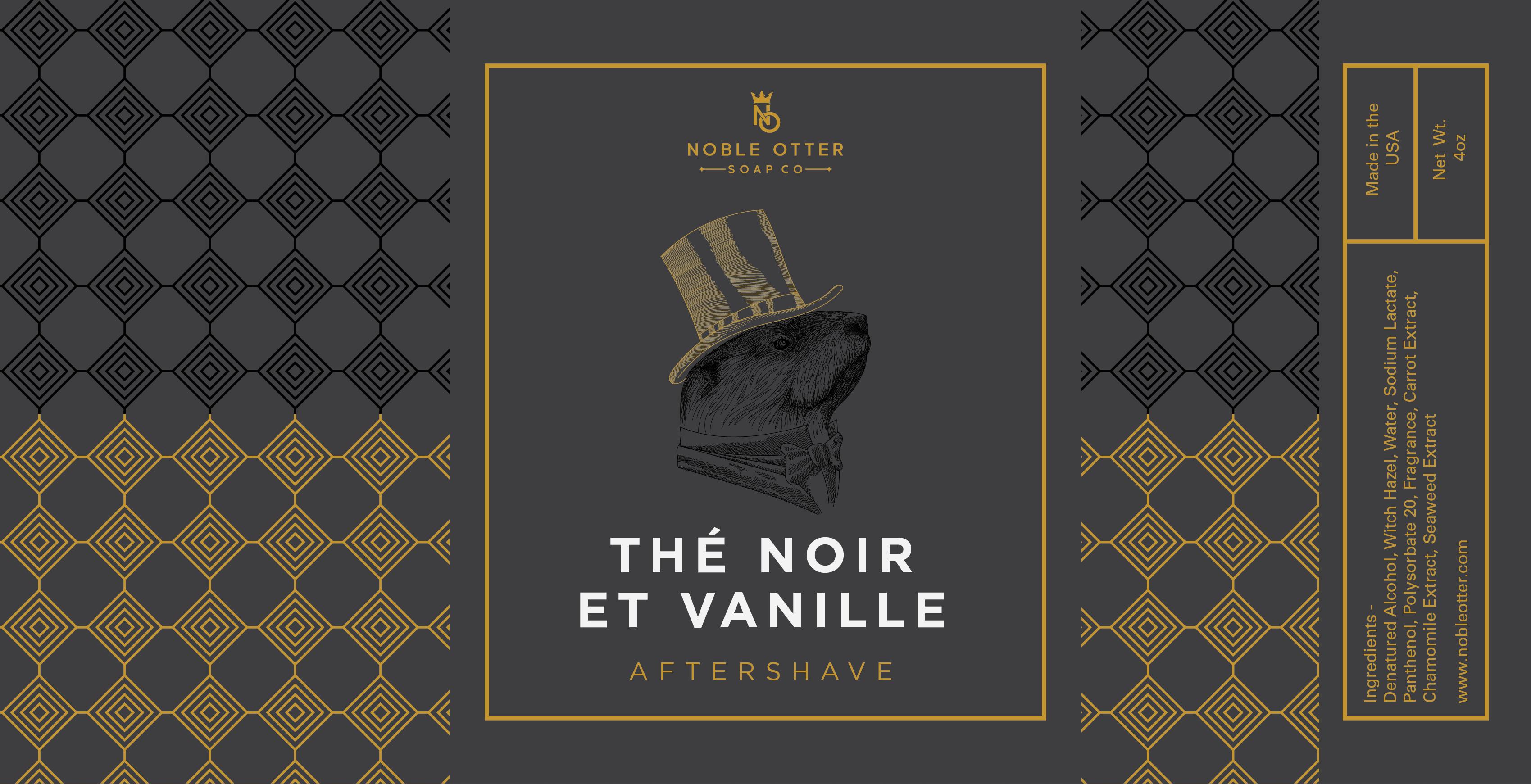 Noble Otter - Thé Noir et Vanille - Aftershave image