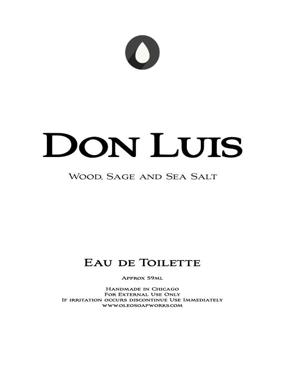 Chicago Grooming Co. (Formerly Oleo Soapworks) - Don Luis - Eau de Toilette image