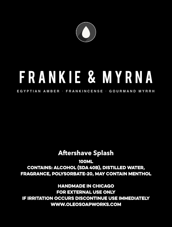 Chicago Grooming Co. (Formerly Oleo Soapworks) - Frankie & Myrna - Aftershave image