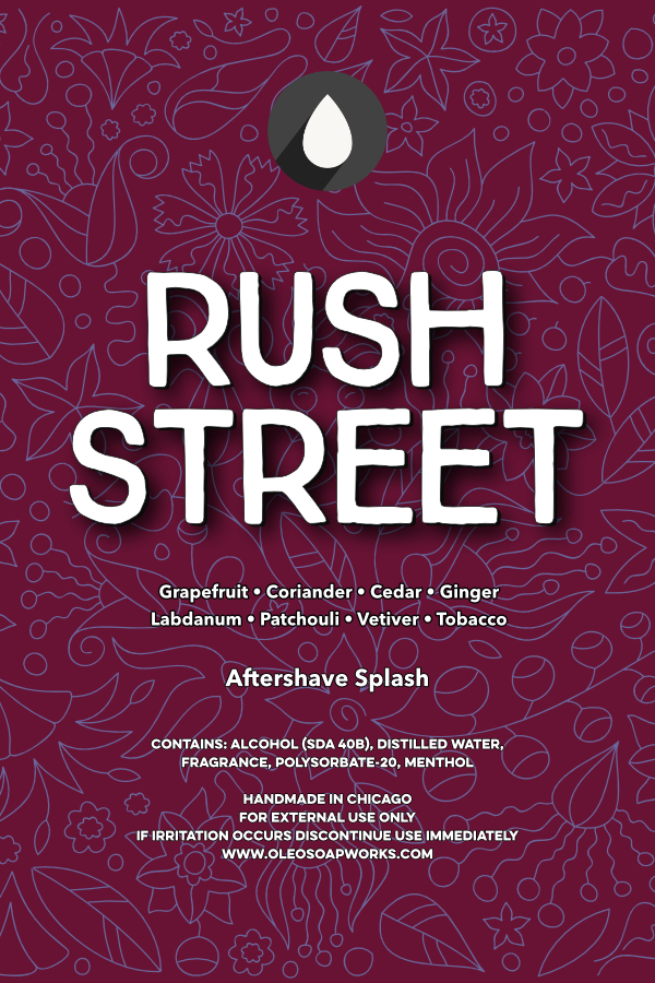 Oleo Soapworks - Rush Street - Aftershave image