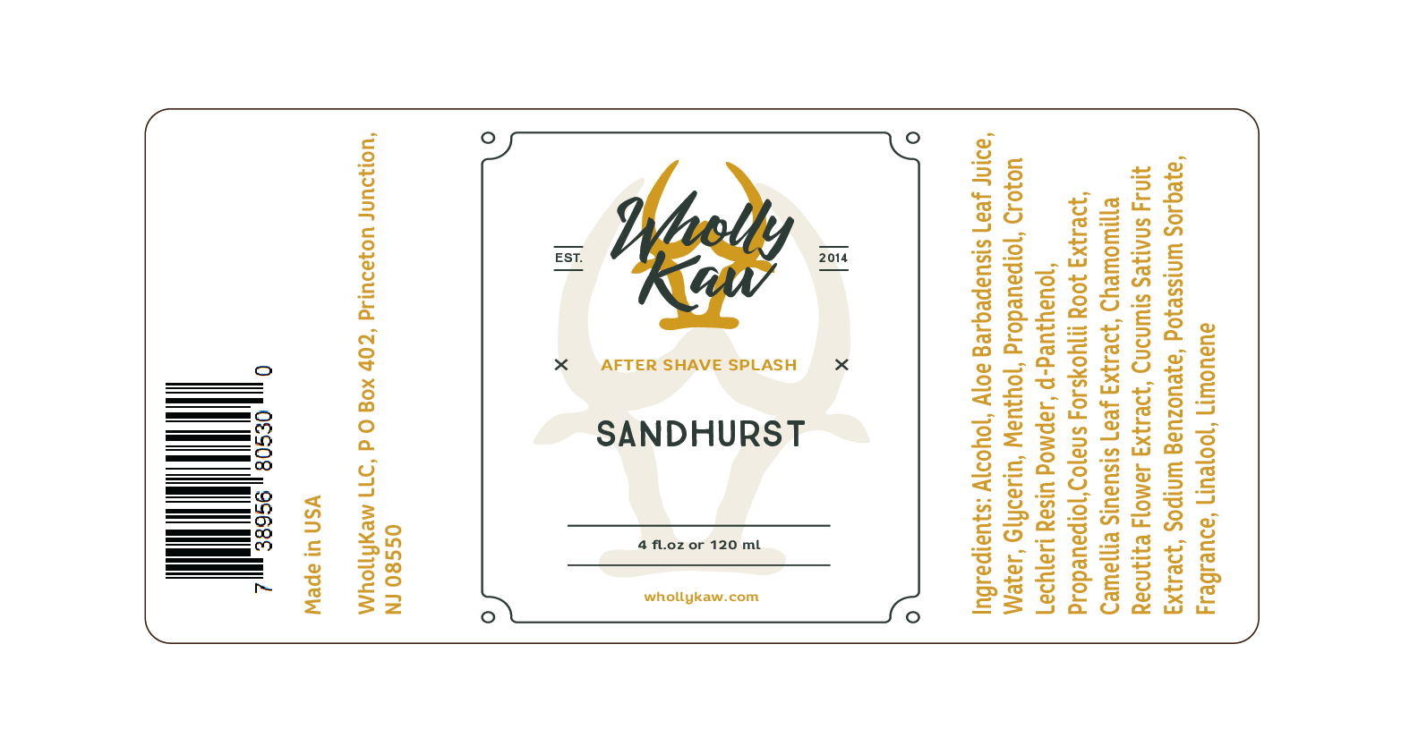 Wholly Kaw - Sandhurst - Aftershave image
