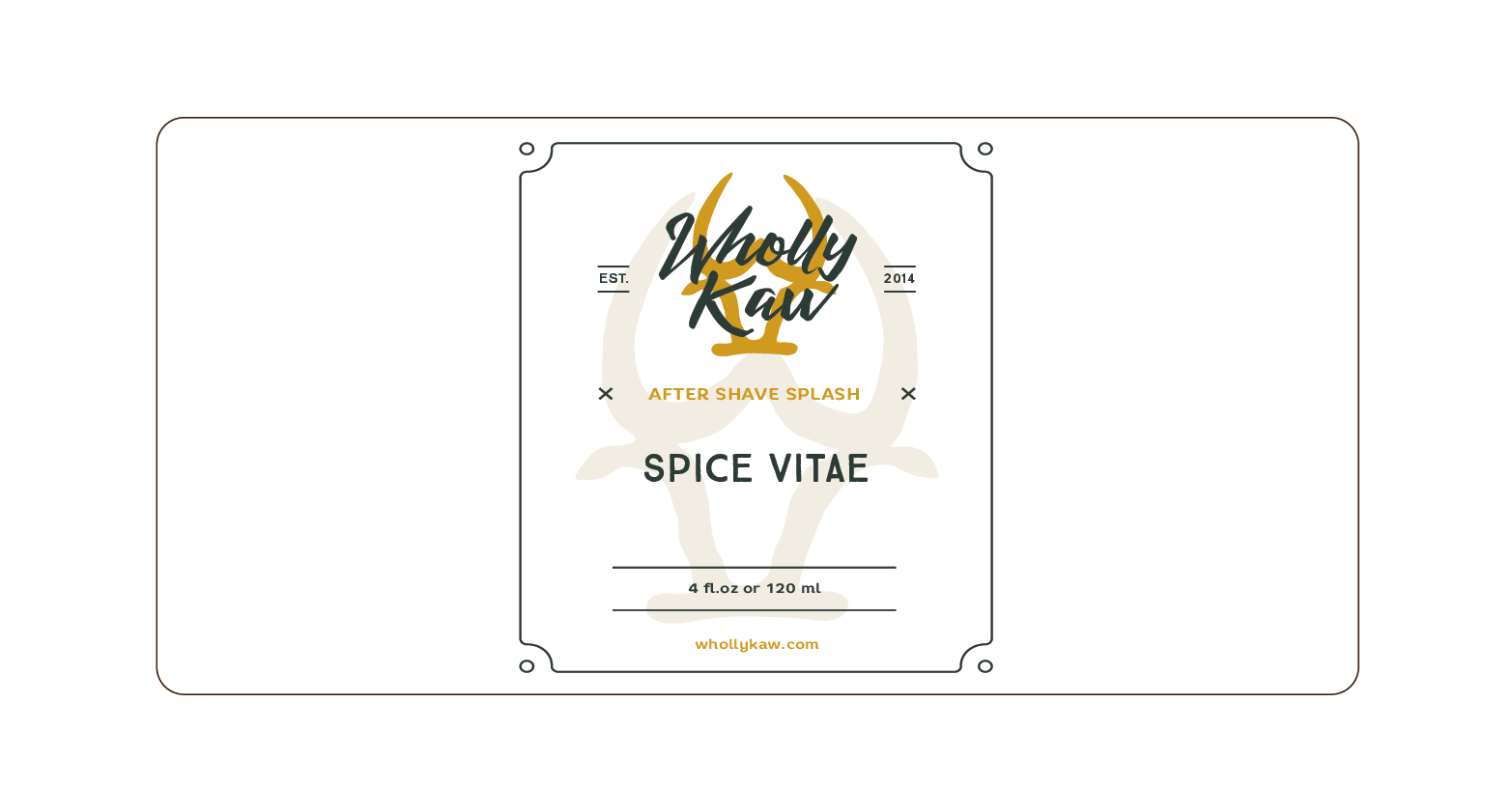Wholly Kaw - Spice Vitae - Aftershave image