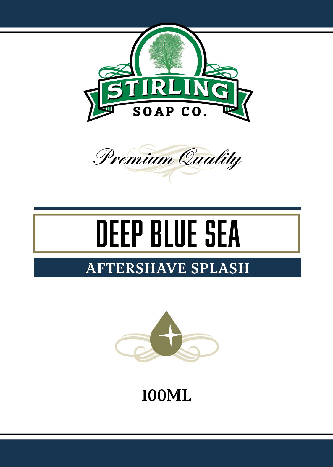 Stirling Soap Co. - Deep Blue Sea - Aftershave image