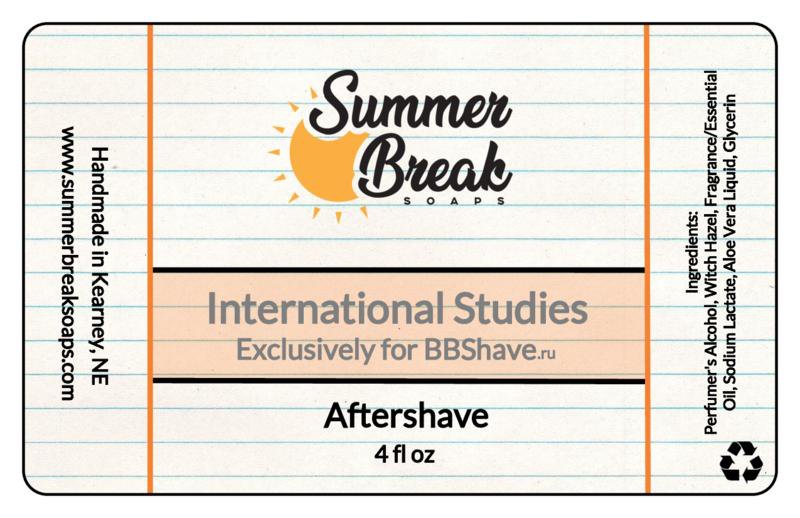 Summer Break Soaps - International Studies - Aftershave image