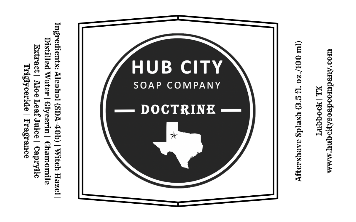 Hub City Soap Company - Doctrine - Aftershave image