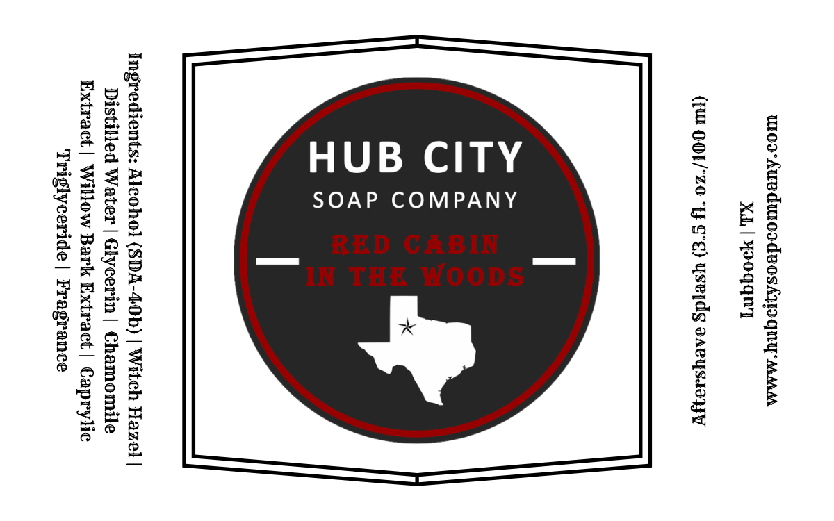 Hub City Soap Company - Red Cabin - Aftershave image