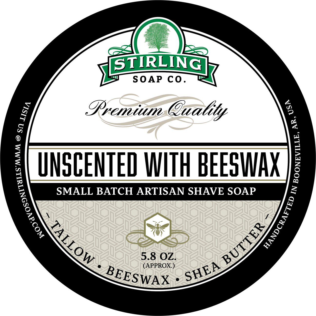 Stirling Soap Co. - Unscented with Beeswax - Soap image
