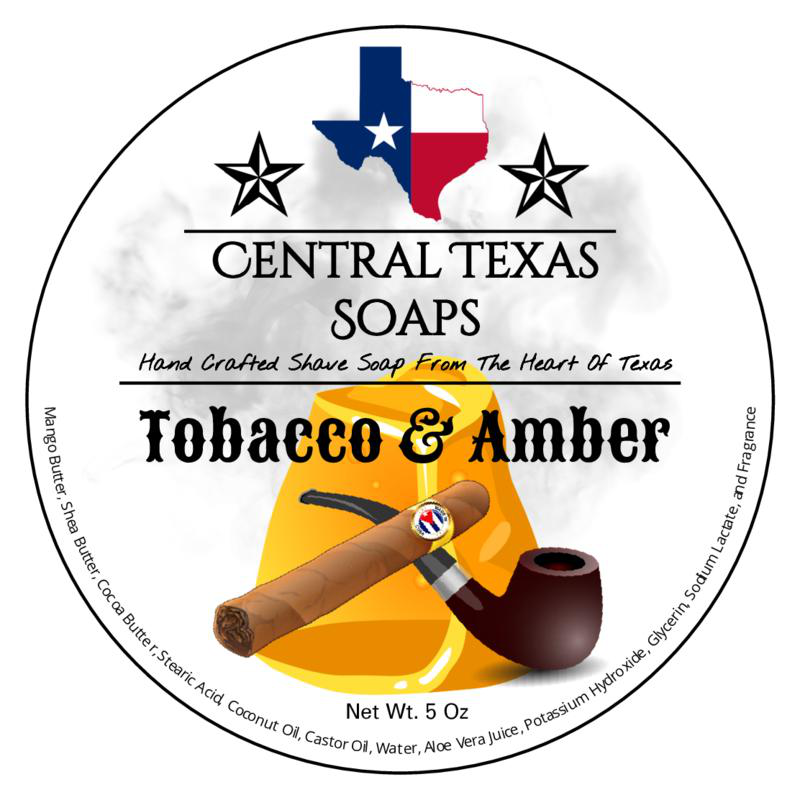 Central Texas Soaps - Tobacco & Amber - Soap image
