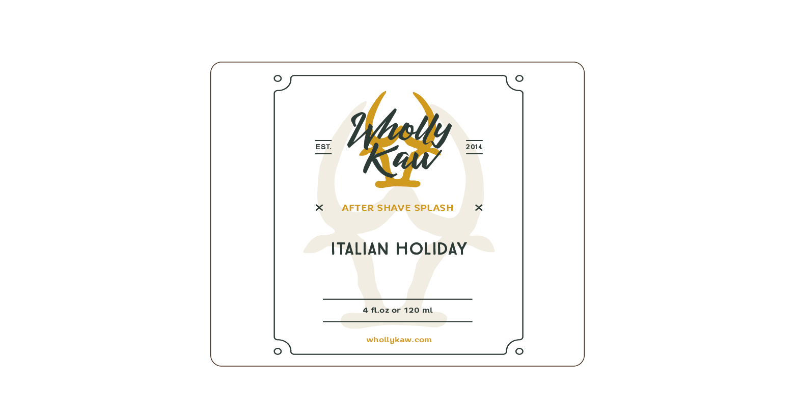 Wholly Kaw - Italian Holiday - Aftershave image