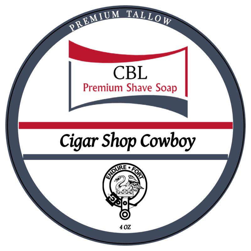 CBL Premium Shave Soap - Cigar Shop Cowboy - Soap image