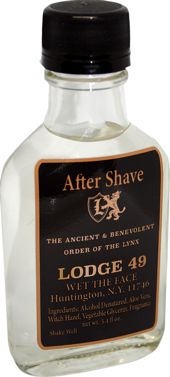 Wet The Face - Lodge 49 - Aftershave image