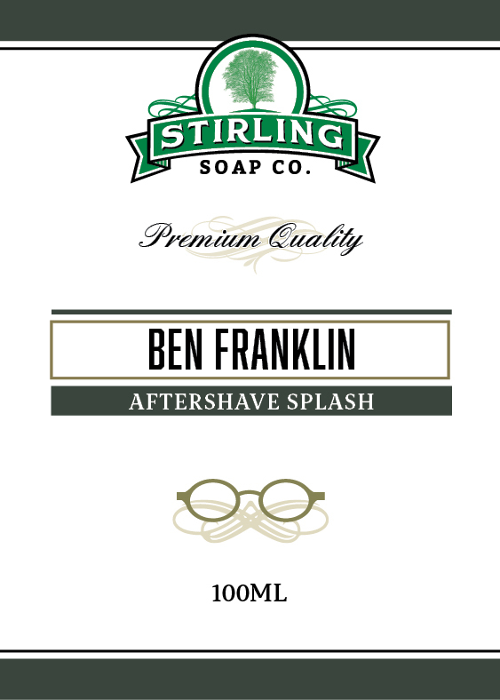 Stirling Soap Co. - Ben Franklin - Aftershave image