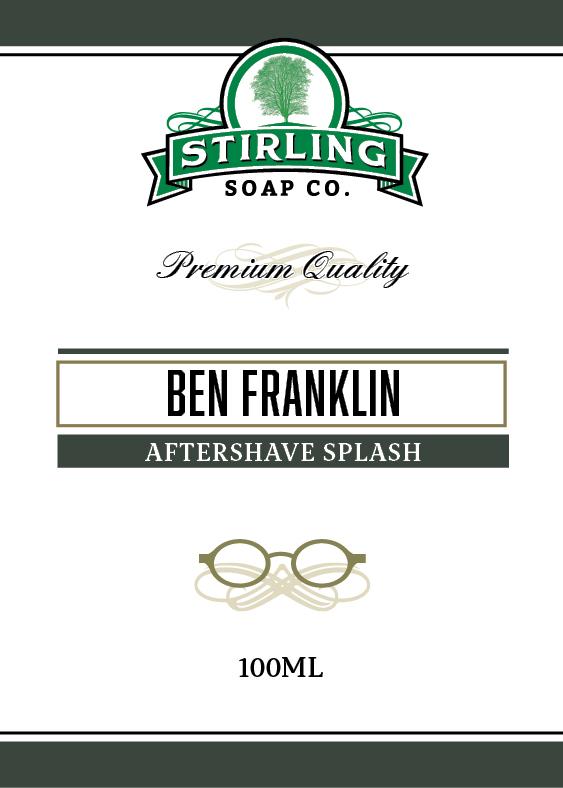 Stirling Soap Co. - Ben Franklin - Aftershave image