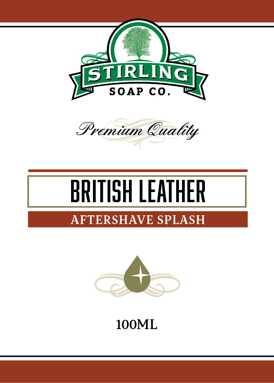 Stirling Soap Co. - British Leather - Aftershave image