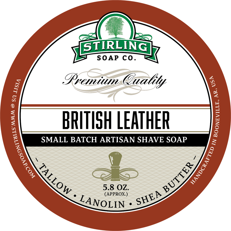 Stirling Soap Co. - British Leather - Soap image