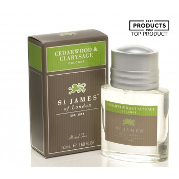St. James of London - Cedarwood & Clarysage - Cologne (Alcohol Free) image