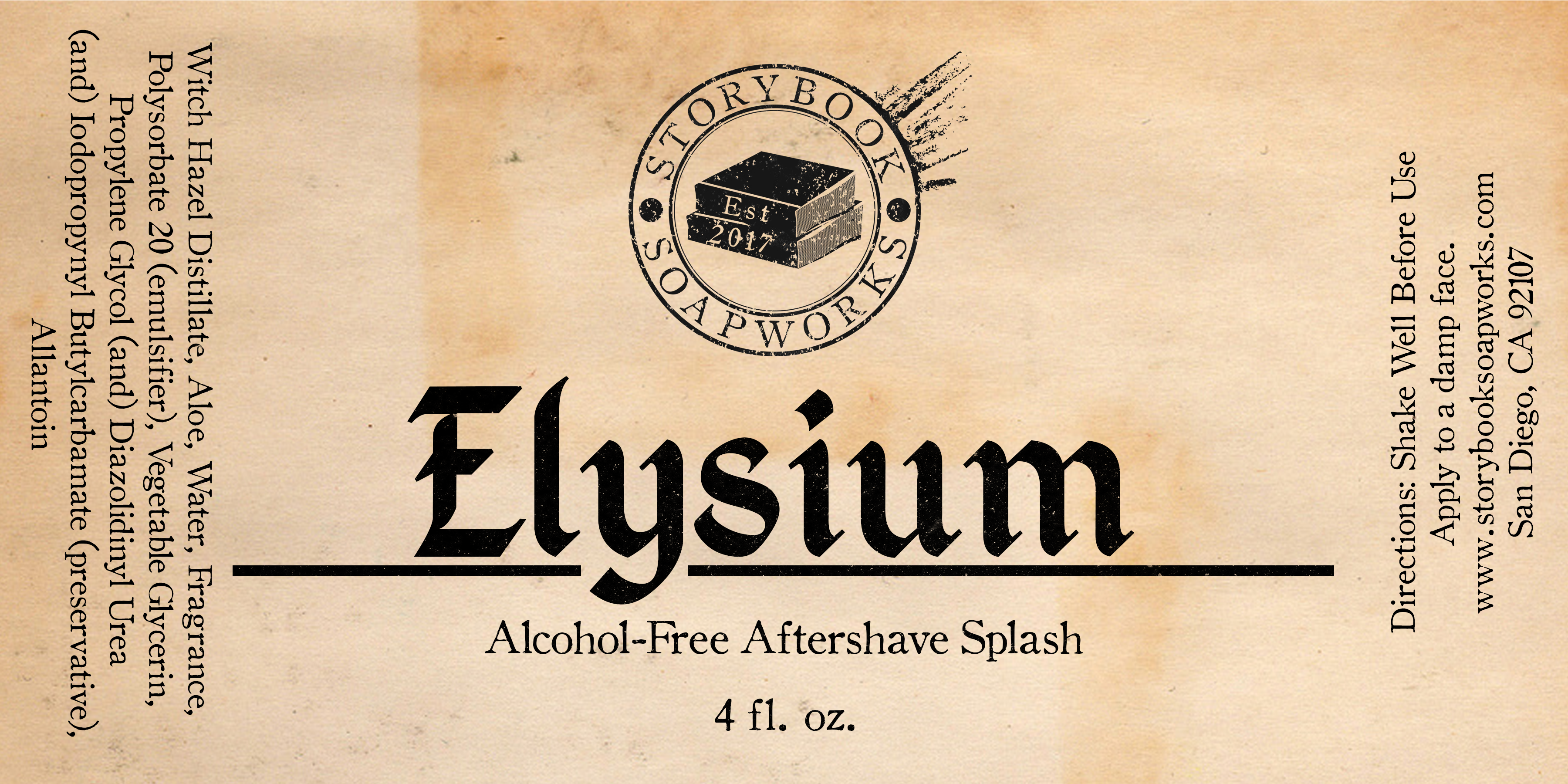 Storybook Soapworks - Elysium - Aftershave (Alcohol Free) image