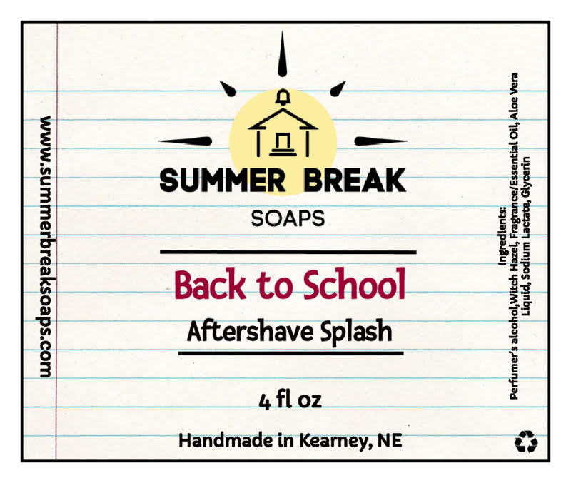Summer Break Soaps - Back to School - Aftershave image