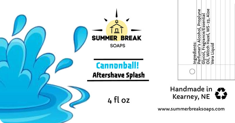 Summer Break Soaps - Cannonball! - Aftershave image
