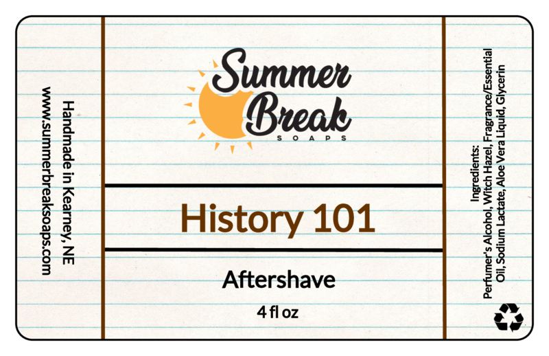 Summer Break Soaps - History 101 - Aftershave image