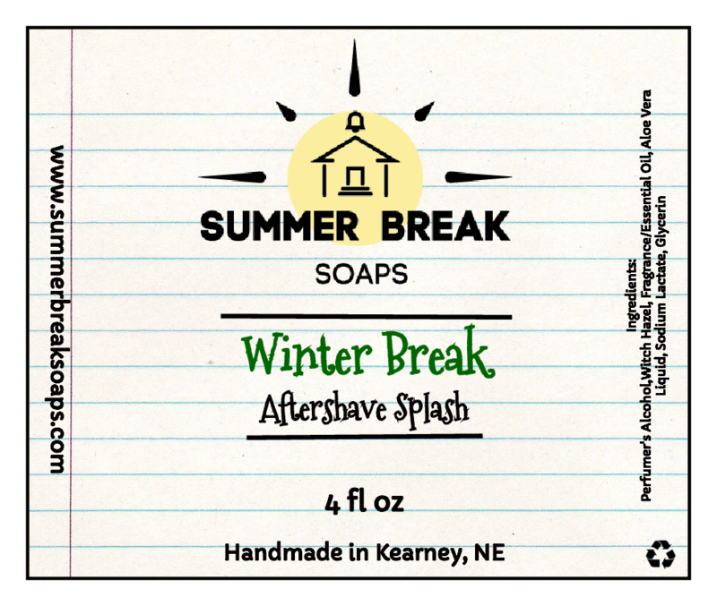 Summer Break Soaps - Winter Break - Aftershave image