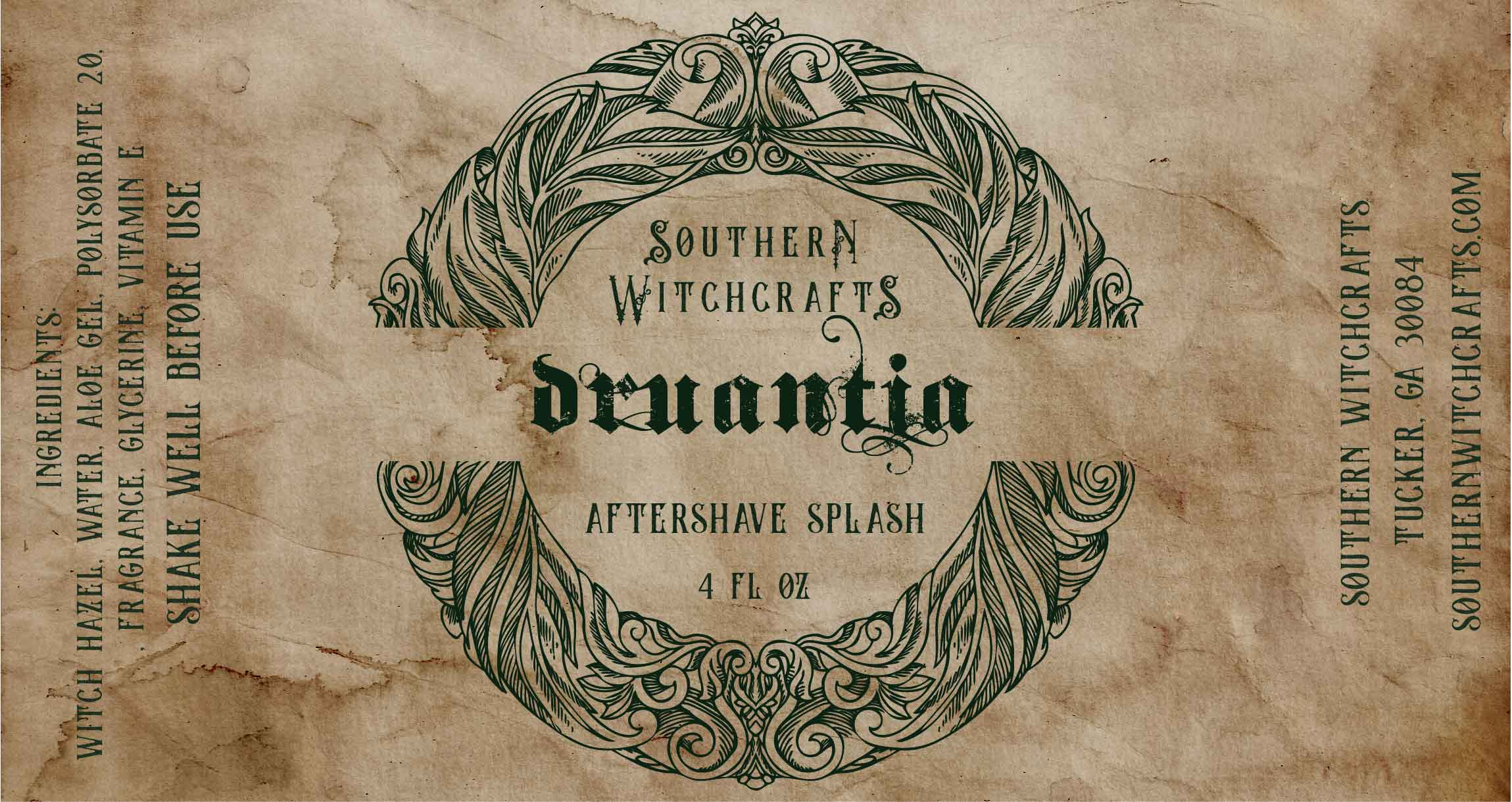 Southern Witchcrafts - Druantia - Aftershave (Alcohol Free) image