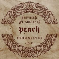Southern Witchcrafts - Peach - Aftershave (Alcohol Free) image