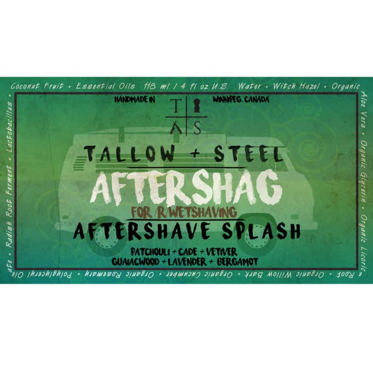 Tallow + Steel - Shag - Aftershave (Alcohol Free) image